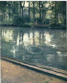 Rainy Sunday afternoon // Gustave Caillebotte, the Yerres, Rain (1875)