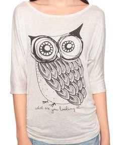 Forever 21 Owl Shirt!  Now only if their clothes came in my size...