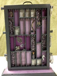 Tabletop Rotating Jewelry Organizer & Mirror by BizarreIntentions, $98.00