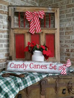 A Rustic Repurposed Recycled Reused Vintage Christmas Front Porch 2014