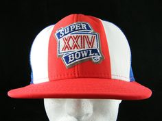 Vintage SUPER BOWL XXIV Trucker Hat AJD Lucky Stripes Made in USA UEC #AJDLuckyStripes #Snapback