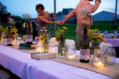 """""""sunflowers and lace, a diy backyard wedding."""" if i were to have an outdoor wedding, i would definitely want it to be like this! via pocketful of dreams Beach Wedding Reception, Reception Table, Chic Wedding, Wedding Bells, Our Wedding, Wedding Ideas, Wedding Stuff, Wedding Advice, Reception Ideas"""