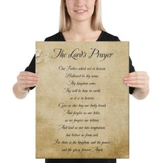 The Lord's Prayer 16x20 Canvas Print | Netties Expressions