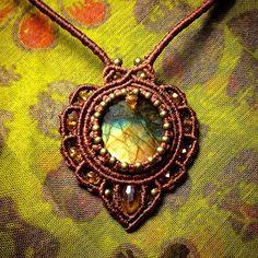 Magic #pendant for my friend ) #macrame #micromacrame #svitoe #natural #stone…