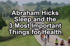 Abraham Hicks Sleep and the 3 Most Important Things for Health - YouTube