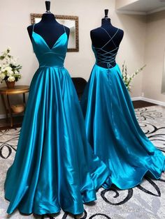 V Neck Backless Teal Long Prom Dresses, V Neck Open Back Blue Formal Evening Dresses Related posts:Simple blue long prom dress, blue bridesmaid dressWomen's Dresses - Gold Pailletten Trägerlos AbendrobeSource by Kleider. Pretty Prom Dresses, Simple Prom Dress, A Line Prom Dresses, Ball Dresses, Beautiful Dresses, Bridesmaid Dresses, Teal Prom Dresses, Dress Prom, Blue Graduation Dresses