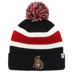 Men s Ottawa Senators  47 Brand Black Breakaway Knit Hat Knitted Hats cb75a0514a59