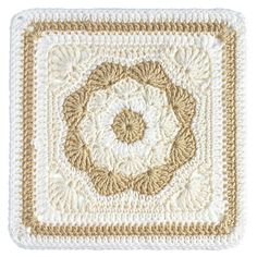 "Harriett Square 12"" pattern by Carolyn Christmas ~ free pattern"