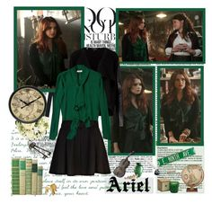Ariel- Of Once Upon A Time by opelazar on Polyvore featuring polyvore, мода, style, Ted Baker, River Island, Solange Azagury-Partridge, Infinity Instruments, Relique, Venini, DwellStudio, Once Upon a Time, Kerr® and Anja