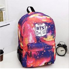 2016 Brand Fashion Laptop Backpack Printing BTS School Bags For Teenagers girls Canvas Men Outdoor Travel Rucksack Mochila Li152