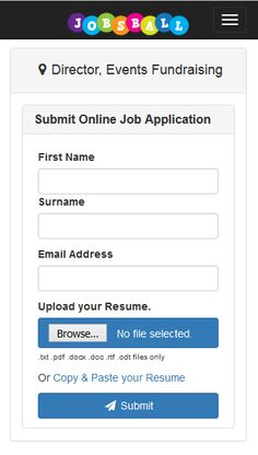 Submit job applications online and using our android app  www.jobsball.co.uk