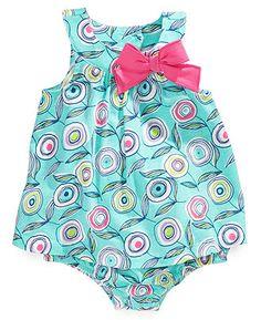 First Impressions Baby Bodysuit, Baby Girls Swirl-Print Sunsuit - Kids Baby Girl (0-24 months) - Macys