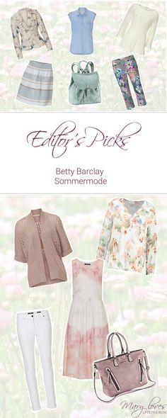 Editor's Picks - Betty Barclay Sommermode - sommerliche Kleidung von Betty Barclay - Pastellfarben und Blumenmuster im Sommer