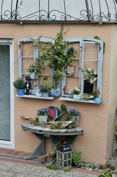 Outdoor Projects, Garden Projects, Outdoor Decor, Deco Champetre, Deco Floral, Rustic Gardens, Yard Art, Modern Decor, Windows