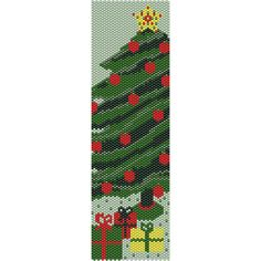 Christmas Tree Peyote Bead Pattern, Bracelet Cuff, Bookmark, Seed Beading Pattern Miyuki Delica Size 11 Beads - PDF Instant Download by SmartArtsSupply on Etsy