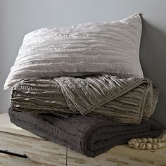 Frayed-Edge Quilt + Shams #westelm