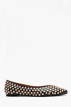 Ashlees Loves: Studded loved info @ashleesloves.com #Daisy #studded #flat #women's #fashion #footwear #shoes #style #love