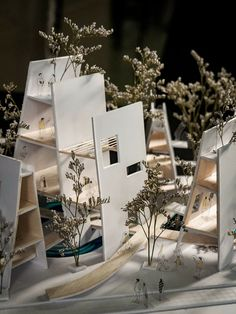 ThietkenhanhUAH Maquette Architecture, Architecture Model Making, Architecture Concept Drawings, Architecture Portfolio, Architecture Details, Landscape Architecture, Interior Architecture, Landscape Design, Living Haus