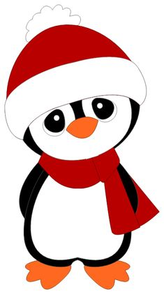 Penguin Coloring Pages : Cute Penguin On Christmas Coloring Page . Christmas Rock, Felt Christmas, Christmas Colors, Christmas Vinyl, Penguin Coloring Pages, Christmas Coloring Pages, Christmas Drawing, Christmas Paintings, Christmas Clipart