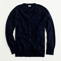 JCrew Factory classic crewneck cardigan - Can't wait for this to arrive too!