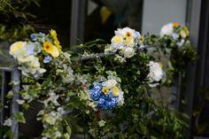新郎新婦様からのメール レストランヒロミチ様へ 初夏の装花 ひまわりと未来1 : 一会 ウエディングの花