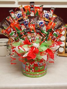 Christmas Candy Bouquet. $35.99, via Etsy.