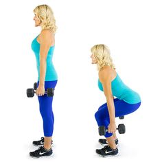 Squats with Dumbbells  work outs