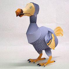 Dodo Papercraft (Bird) ~ Paperkraft.net - Free Papercraft, Paper Model, & Papertoy