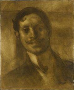 Portrait d'homme dit de Proust Marcel (1871-1922), écrivain Carrière Eugène (1849-1906) --Réunion des Musées Nationaux-Grand Palais -
