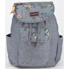 Jansport Break Town Backpack (3.135 RUB) ❤ liked on Polyvore featuring bags, backpacks, bolsa, drawstring backpack bags, cotton canvas backpack, draw string bag, jansport bags and handle bag