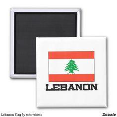 Lebanon Flag 2 Inch Square Magnet