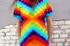 Folding an x pattern tie-dye