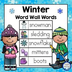 Browse winter resources on Teachers Pay Teachers, a marketplace trusted by millions of teachers for original educational resources. Language Activities, Literacy Activities, Literacy Centres, Winter Activities, Christmas Words, Winter Christmas, Christmas Hanukkah, Christmas Ideas, Winter Words