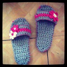 Summer Spa Sandal Slippers by karenswimmer on Etsy, $32.00