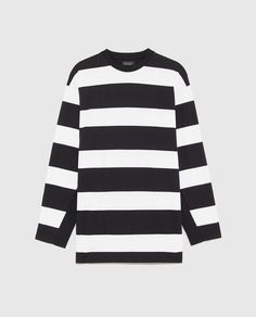 Image 6 of OVERSIZED STRIPED SWEATER from Zara