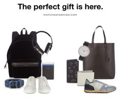 """The Gift Studio"" by matchesfashion ❤ liked on Polyvore featuring Yves Saint Laurent, Paul Smith, Fendi, Valextra, Anderson's Belts, Pryma, MMT, Valentino, men's fashion and menswear"
