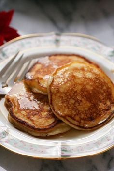 NYT Cooking: Basic pancakes are simple to throw together and are guaranteed to delight a crowd. But go one step further, separating the eggs and beating the whites, and you turn the ordinary pancake into something almost soufflé-like. These also contain ricotta, for extra richness that doesn't weigh the pancakes down.