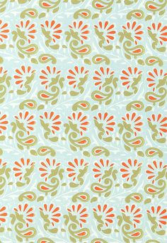 It's actually a hand blocked wallpaper. Pricey! I wonder if they have it in a fabric....if not, they need to.
