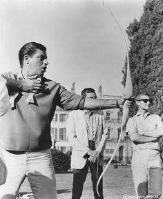 Jerry Lewis, bow and arrow