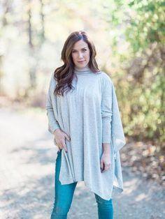 Fiona Poncho Sweater – Cloth + Cabin