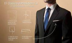 Cómo doblar el pañuelo de bolsillo (pocket square) ~ El Blog que está de Moda