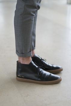 Wowowowowow menstyled: Common Projects Black Varnished