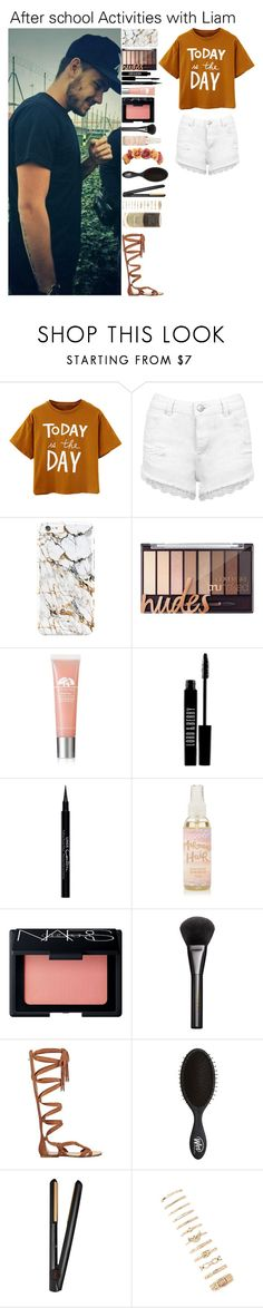 """""""After school Activities with Liam"""" by kateremington-1 ❤ liked on Polyvore featuring Payne, Miss Selfridge, Origins, Lord & Berry, Givenchy, NARS Cosmetics, Gucci, Sigerson Morrison, GHD and Forever 21"""