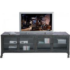 Ik vond dit op Beslist.nl: Kare Design TV meubel 4 deurs Factory metaal