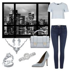 """""""city look"""" by macykreilein ❤ liked on Polyvore featuring Paige Denim, Delicious, Topshop, Bling Jewelry and bürgi"""