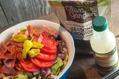 Olive Garden Salad at home - The Farmwife Feeds