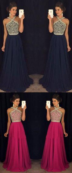 navy blue prom dresses,beaded prom dresses,modest prom dresses,long prom dresses,2017 prom dresses @simpledress2480