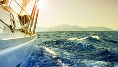 DesignArt 'Yacht Sailing in Wavy Waters' Photographic Print on Metal Size: Boat Wallpaper, Nature Wallpaper, Wallpaper Wallpapers, Desktop Backgrounds, Grands Salons, Nostalgia, Desktop Pictures, Summer Pictures, Cruises