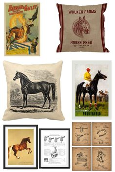 Vintage Inspired Equestrian Home Decor Finds (Horses & Heels) Equestrian Bedroom, Equestrian Decor, Equestrian Outfits, Equestrian Style, Equestrian Fashion, Horse Feed, Horse Farms, Equine Art, Illustrations