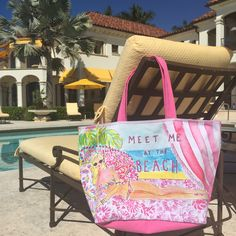 Lilly Pulitzer Beach Tote Bag in Meet Me At The Beach